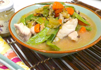 Ginger Fish Soup recipe from Dr. Gourmet