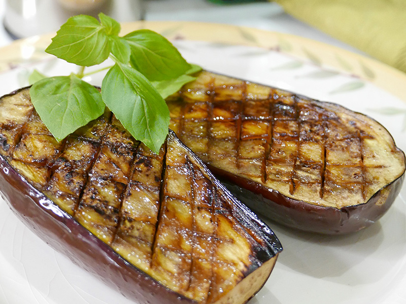 Balsamic Lacquered Eggplant recipe from Dr. Gourmet