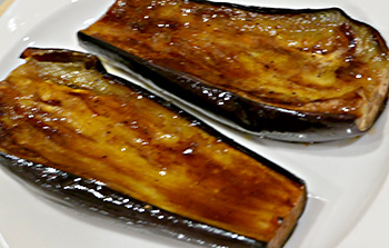 Balsamic Lacquered (Glazed) Eggplant recipe from Dr. Gourmet