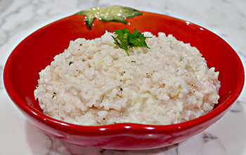 Grated Cauliflower Risotto recipe from Dr. Gourmet