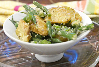 Green Bean and Roasted Potato Salad recipe from Dr. Gourmet