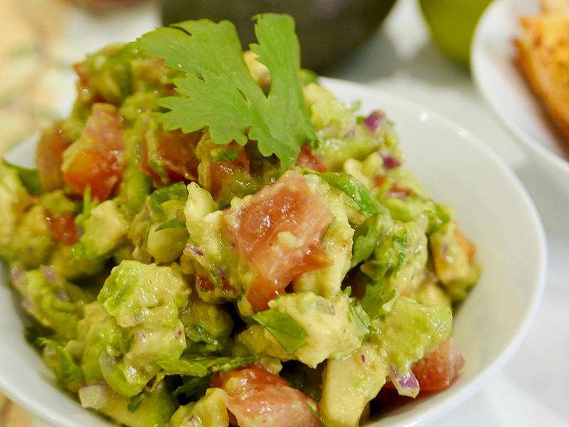 Healthy Guacamole recipe from Dr. Gourmet