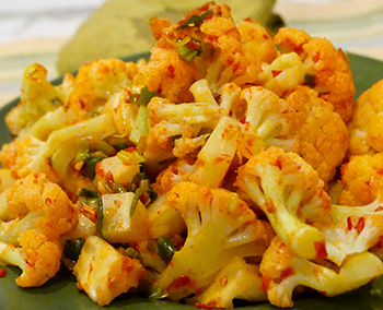 Harissa Cauliflower recipe from Dr. Gourmet