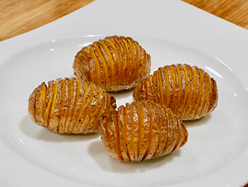 Hasselback Potatoes recipe from Dr. Gourmet