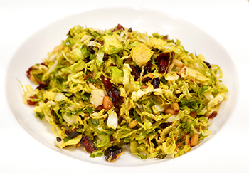 Holiday Shredded Brussels Sprouts from Dr. Gourmet