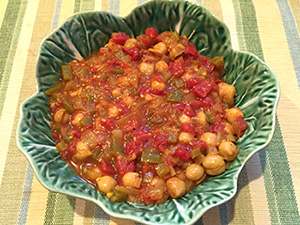 Indian Chickpea Stew Recipe from Dr. Gourmet