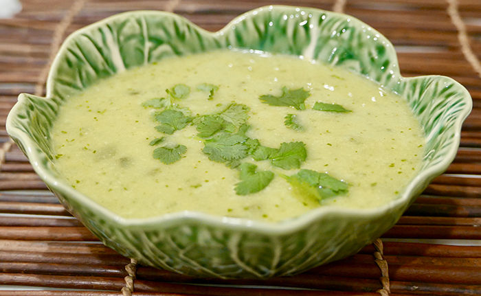 Creamy Jalapeno Soup recipe from Dr. Gourmet