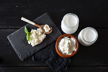 Foods made from fermented milk, including yogurt and buttermilk