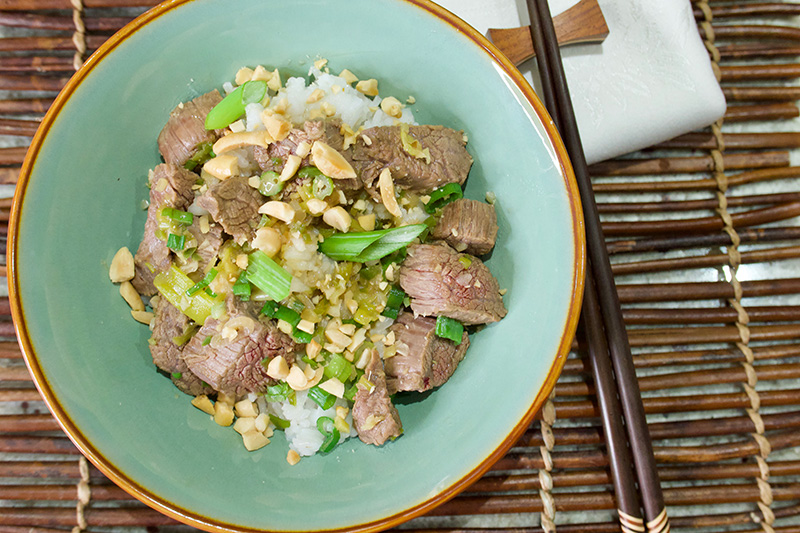 Kung Pao Beef recipe from Dr. Gourmet