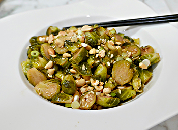 Kung Pao Brussels Sprouts recipe from Dr. Gourmezst