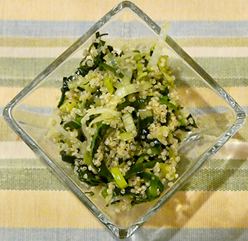 Leek and Scallion Quinoa recipe from Dr. Gourmet