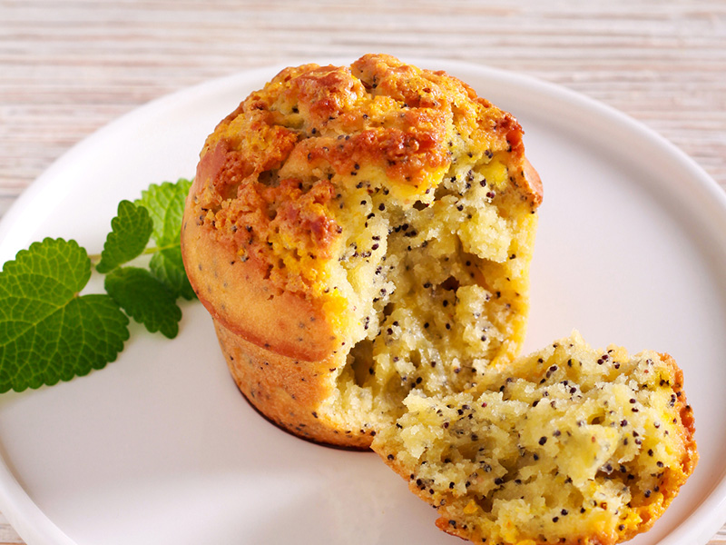 Healthy Lemon Poppyseed Muffin recipe from Dr. Gourmet