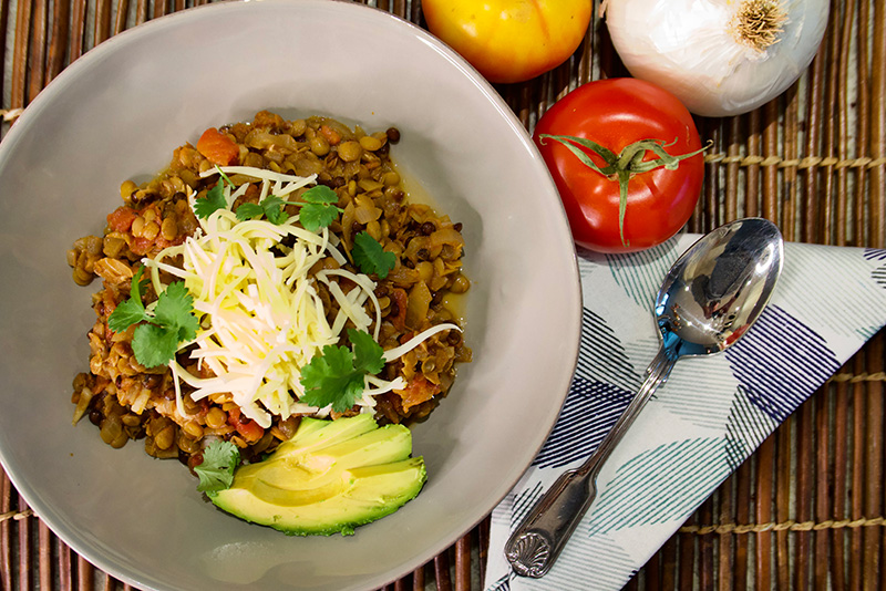 Lentil Chili - an easy vegetarian chili from Dr. Gourmet