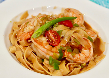 Shrimp with Luscious Shrimp Sauce, a healthy recipe from Dr. Gourmet
