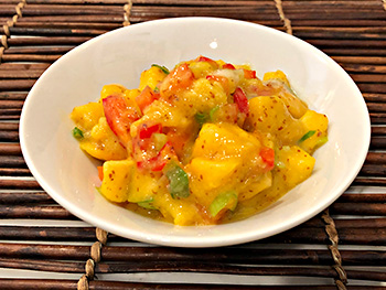 Mango Mustard Salsa recipe from Dr. Gourmet