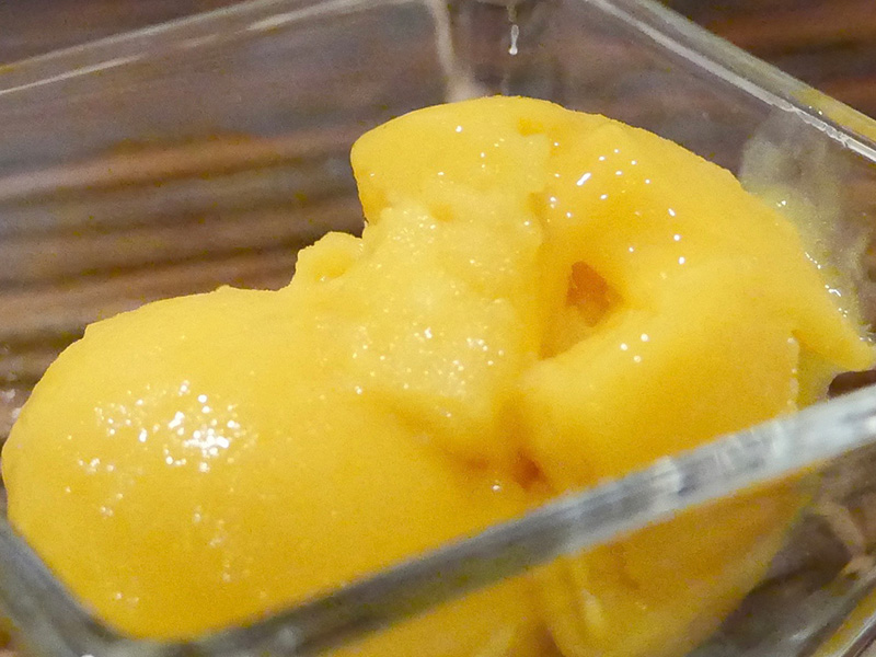 Mango Sorbet recipe from Dr. Gourmet