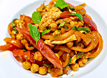 Mediterranean Chicken and Chickpea Salad recipe from Dr. Gourmet