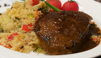 Moroccan Steak, a recipe from Dr. Gourmet