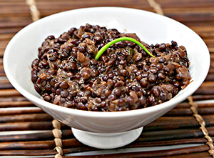 Mustard Lentils - an easy, health side dish from Dr. Gourmet