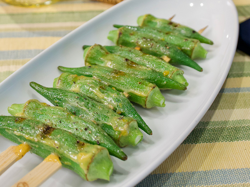 Seared Okra with Buttermilk Glaze