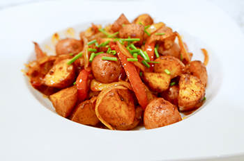 Smoky Roasted Potatoes recipe from Dr. Gourmet