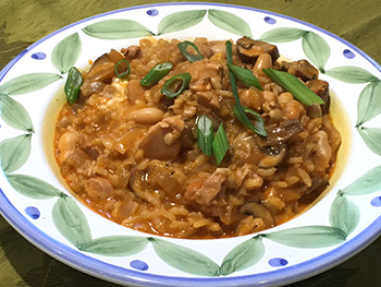 Smoked Paprika Risotto - a one pot recipe from Dr. Gourmet