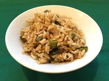 Poblano Rice recipe from Dr. Gourmet