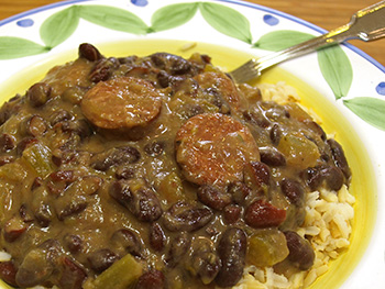 Healthy Red Beans and Rice recipe from Dr. Gourmet