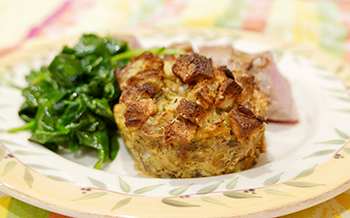 Roasted Garlic Bread Pudding Recipe from Dr. Gourmet