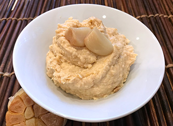 Roasted Garlic Hummus recipe from Dr. Gourmet