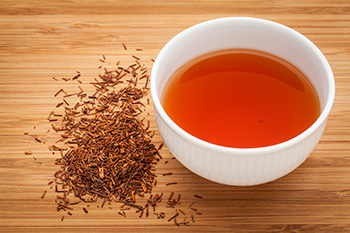 a cup of rooibos tea