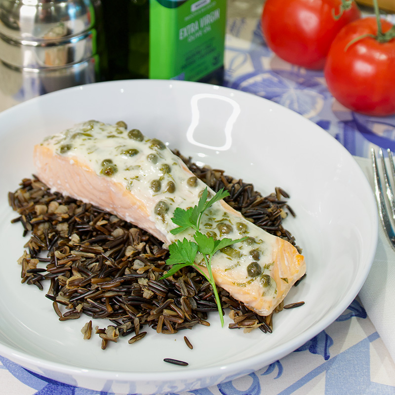 Salmon with Caper Mayo
