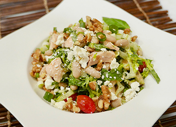 Mediterranean Salmon Salad with White Beans recipe from Dr. Gourmet