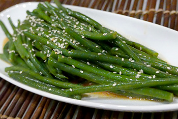 Asian Green Bean Salad Recipe from Dr. Gourmet