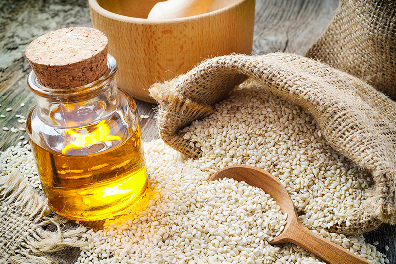 oil made from sesame seeds