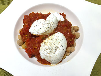 Shakshouka recipe from Dr. Gourmet