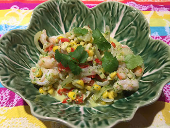 Shrimp Salad with Cilantro Lime Dressing from Dr. Gourmet