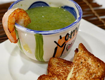 Shrimp and Leek Soup, a warming Fall/Winter soup recipe from Dr. Gourmet