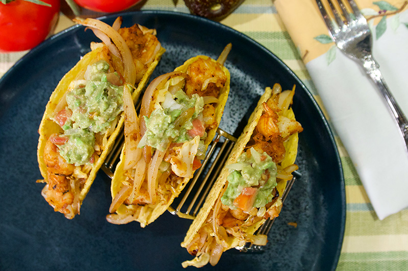 Shrimp Tacos, an easy healthy recipe from Dr. Gourmet