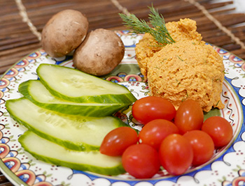 Smoked Paprika Hummus recipe from Dr. Gourmet
