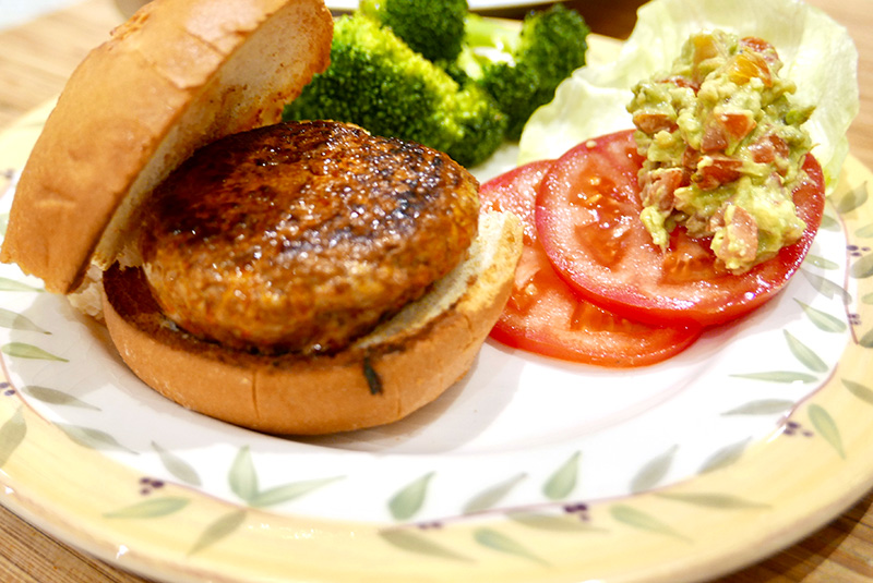 delicious, healthy Smoky Turkey Burgers from Dr. Gourmet