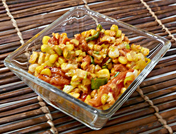 Smoky Corn, a delicious side dish perfect for grilled fish or chicken