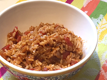 Healthy Spanish Rice-A-Roni recipe by Dr. Gourmet