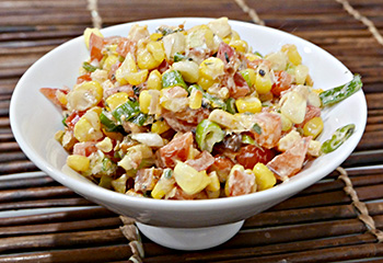 Spicy Sweet Corn, a delicious, spicy and sweet side dish