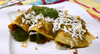 Mushroom and Spinach Enchiladas recipe from Dr. Gourmet