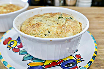 Spinach Souffle made easy and healthy from Dr. Gourmet