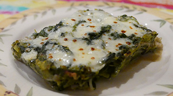 Spinach Leek Lasagna recipe from Dr. Gourmet