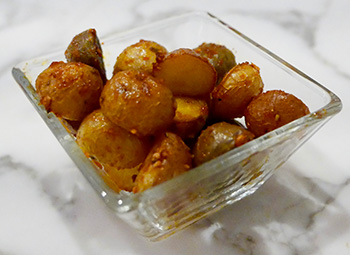 Sriracha Roasted Potatoes recipe from Dr. Gourmet