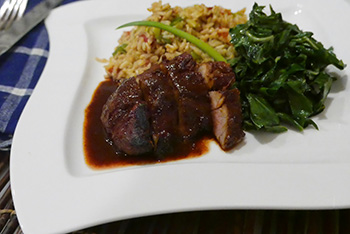 Seared Sweet and Savory Pork recipe from Dr. Gourmet