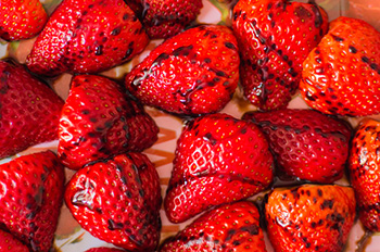 strawberries drizzled with balsamic vinegar